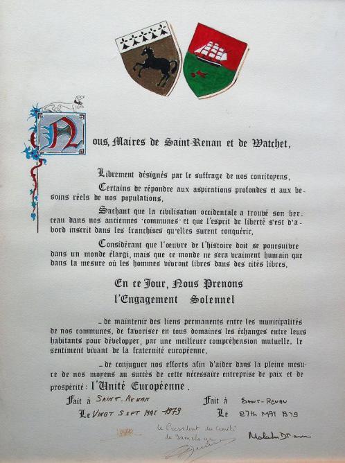 charte signée à Saint Renan